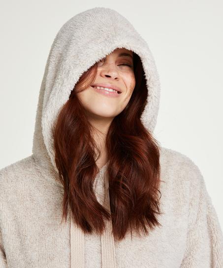 Robe snuggle polaire femme, Beige