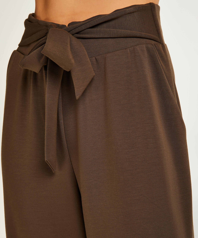 Pantalon Jambe Large, Vert, main