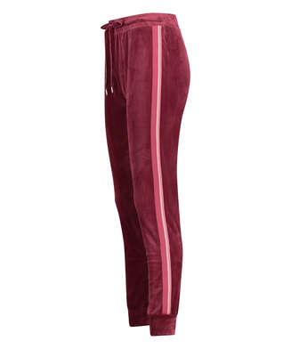 Pantalon de jogging Velours Stripe, Rouge
