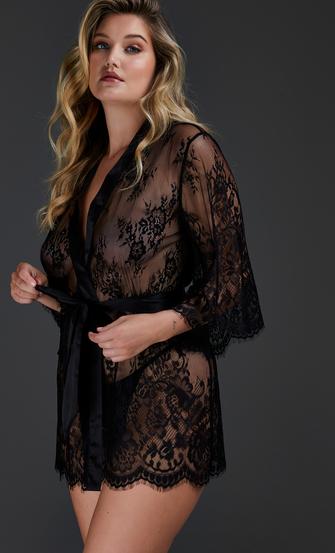 Kimono Lace Isabelle, Noir
