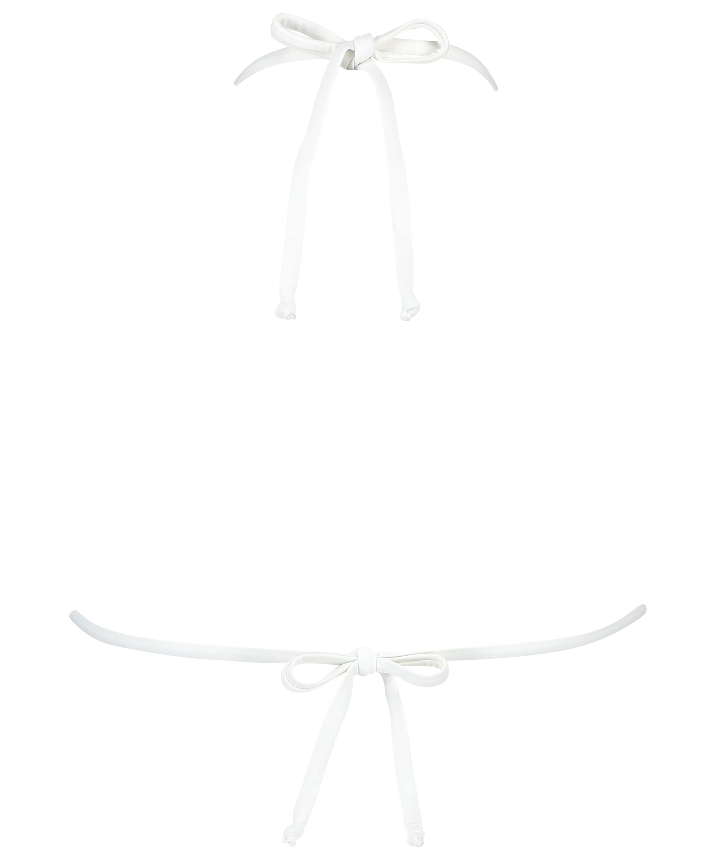 Haut de bikini triangle Maldives, Blanc, main
