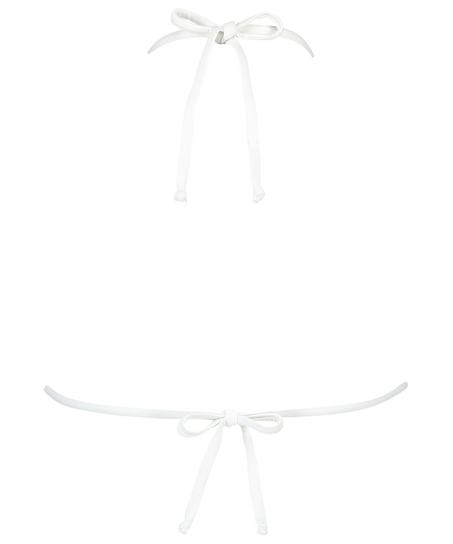 Haut de bikini triangle Maldives, Blanc