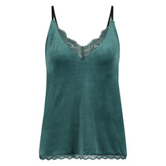 Top Velours Lace, Vert
