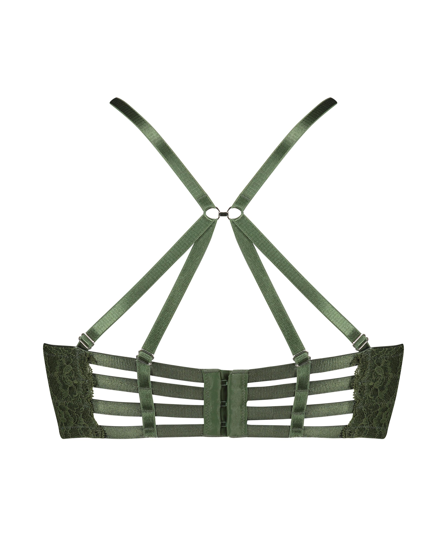 Soutien-gorge à armatures préformé longline Ollie, Vert, main