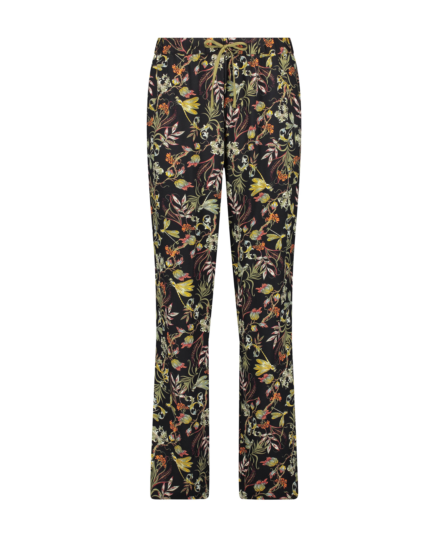 Pantalon de pyjama tissé, Noir, main