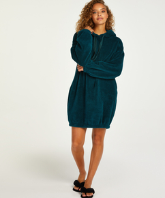 Robe snuggle polaire femme, Bleu