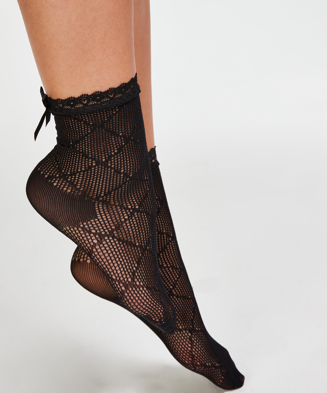 1 paire de chaussettes Mesh Rebecca Mir, Noir, main