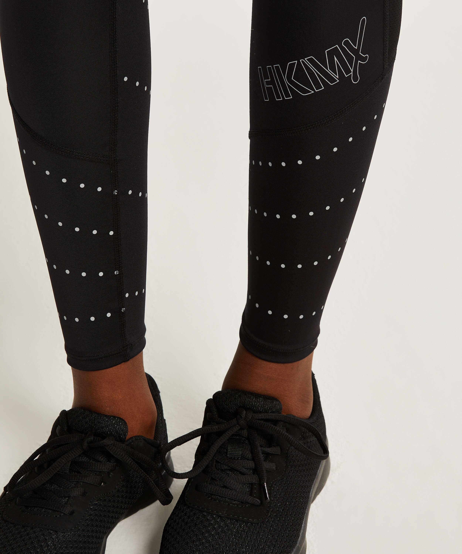 HKMX Legging taille régulière Run Baby Run, Noir, main