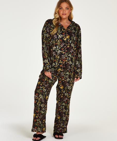 Pantalon de pyjama tissé, Noir