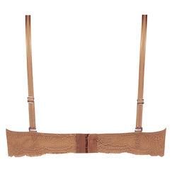 Soutien-gorge à armatures préformé sans bretelles Angie Nude, Bronzage