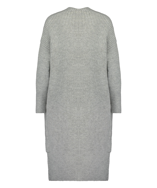 Premium Cardigan long Fluffy, Gris, main