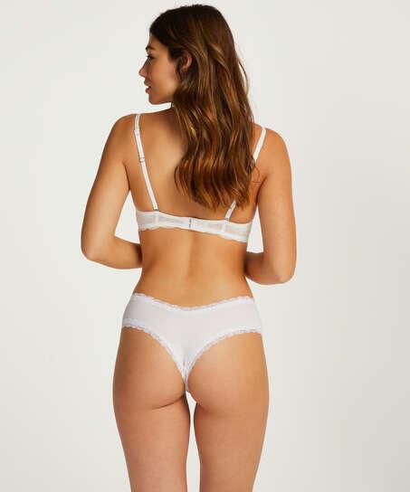 Slip brésilien V-shape micro, Blanc