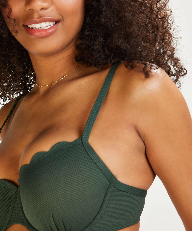 Haut de bikini à armatures préformé Scallop Glam, Vert, main