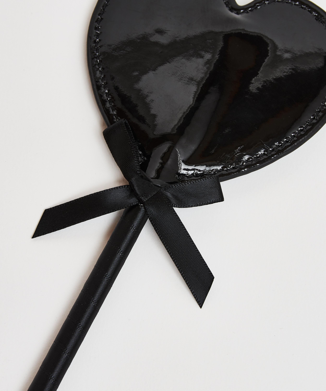 Fouet imitation cuir Private, Noir, main