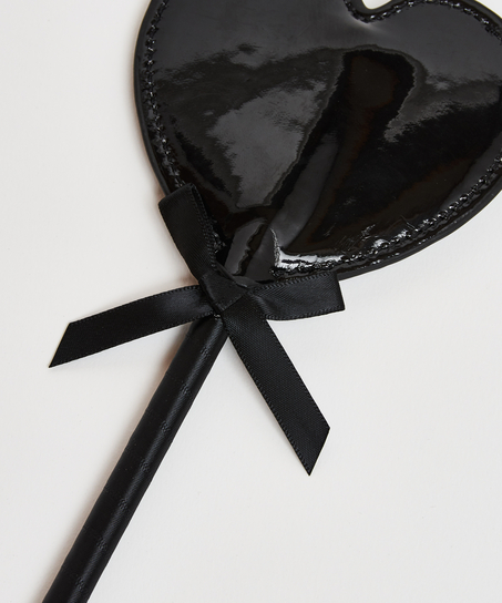 Fouet imitation cuir Private, Noir