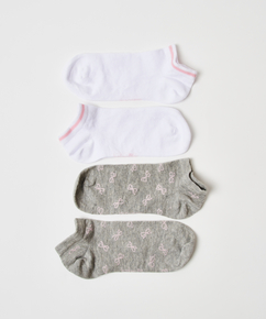 Lot de 2 paires de chaussettes en coton Trainerliners , Gris