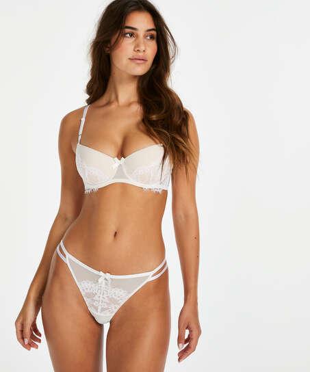 String tanga Leyla, Blanc