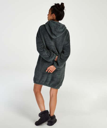 Robe snuggle polaire femme, Vert