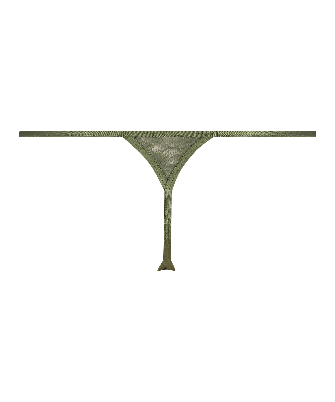 Mini String Tanga, Vert, main