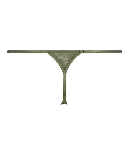Mini String Tanga, Vert
