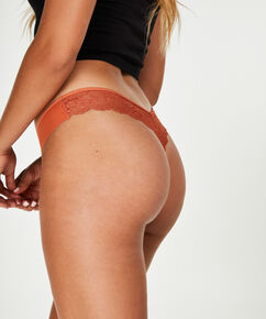 String Invisible Lace back, marron