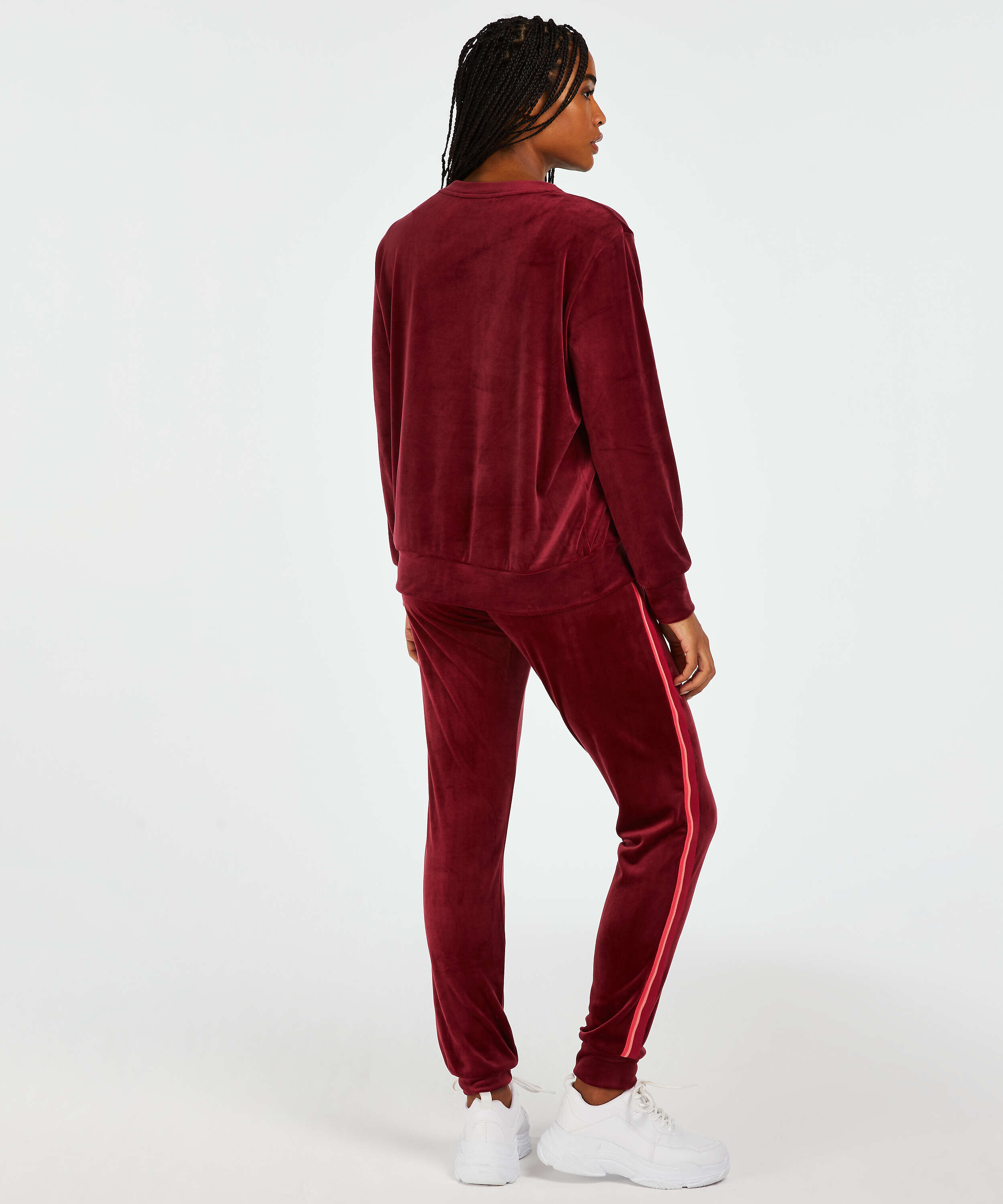 Top Velours manches longues, Rouge, main