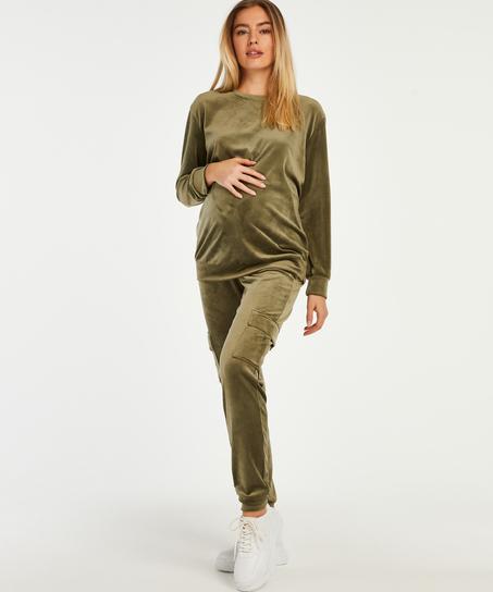 Top de grossesse en velours , Vert