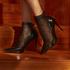 1 paire de chaussettes Mesh Rebecca Mir, Noir