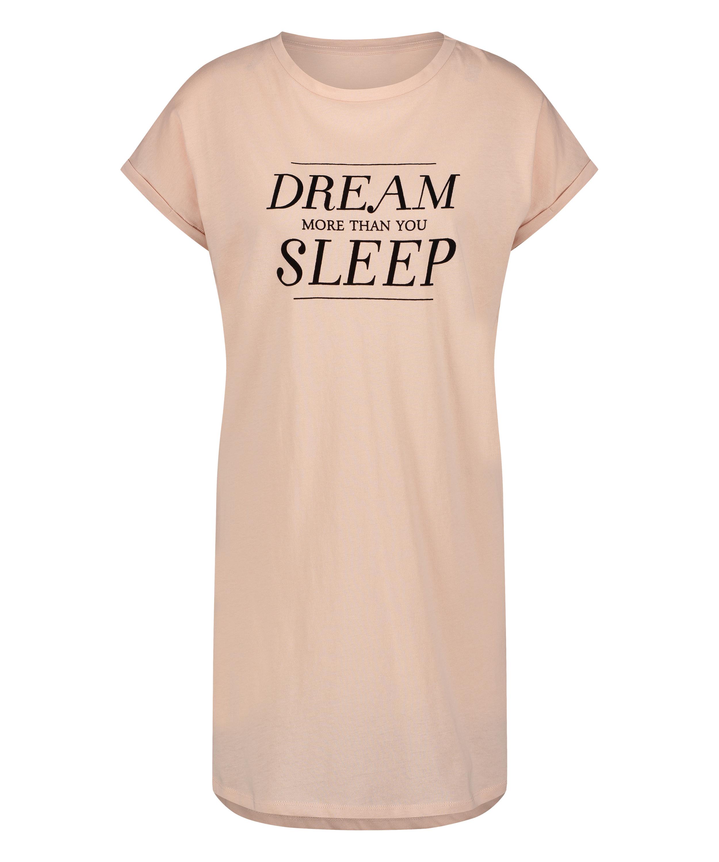 Chemise de nuit manches courtes Dream, Rose, main