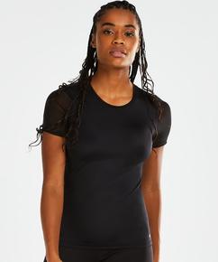 T-shirt de sport HKMX Dos échancré, Noir