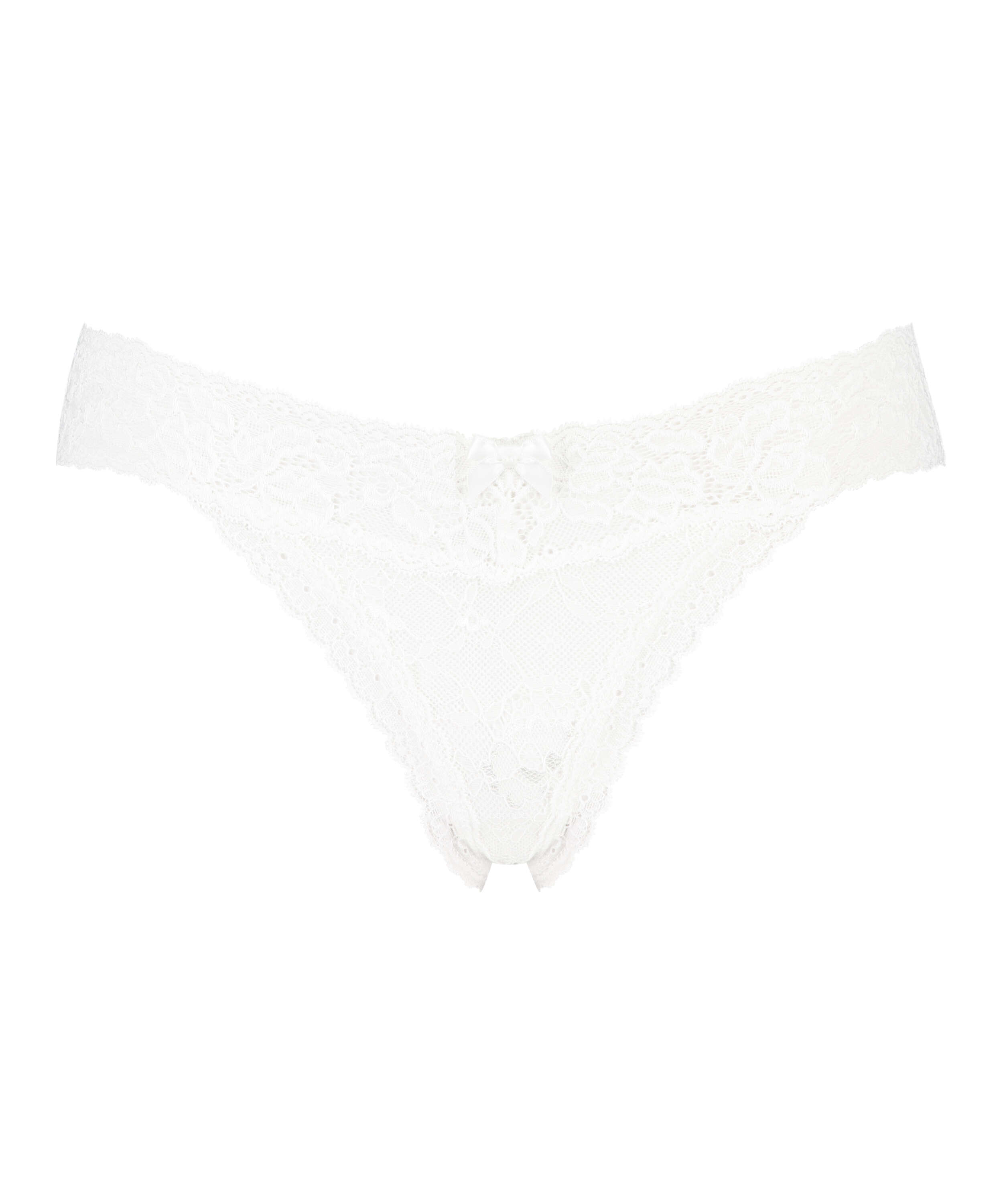 String extra bas Madison, Blanc, main
