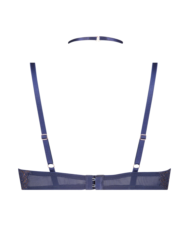 Soutien-gorge long rembourré à armatures Rya, Bleu, main