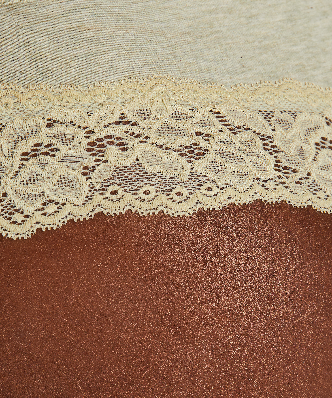 Boxer string Coton, Vert, main