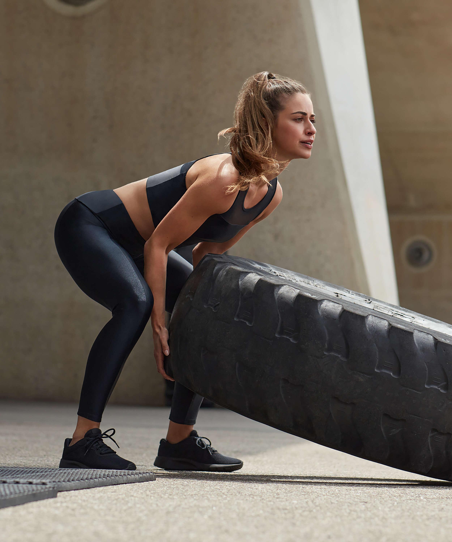 Legging de sport taille haute HKMX Shine On, Noir, main