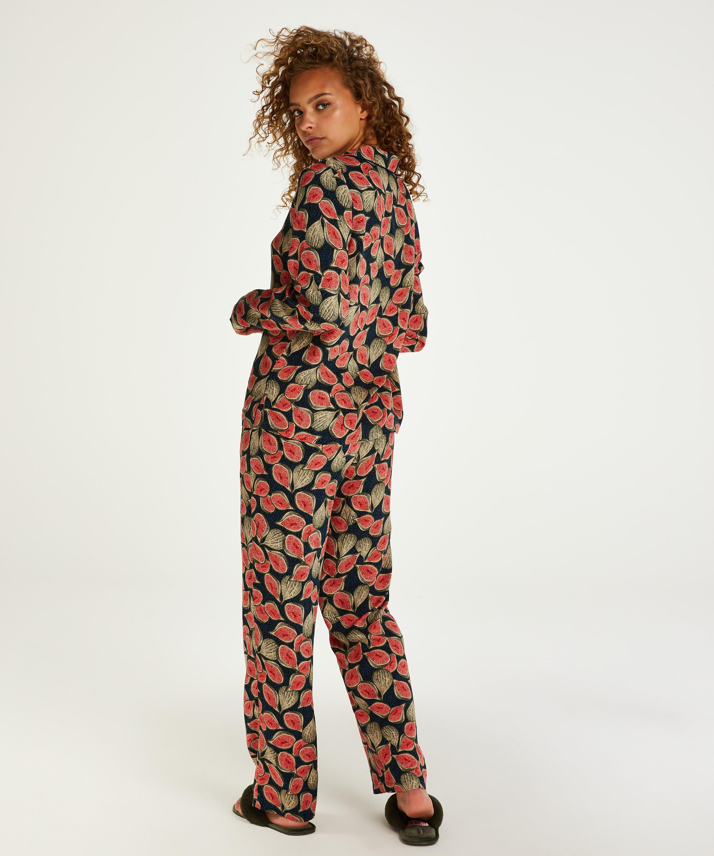 Haut de pyjama à manches longues Dragonfly, Bleu, main